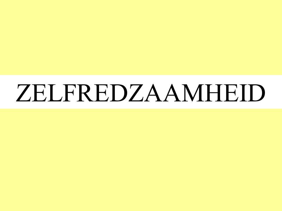 ZELFREDZAAMHEID