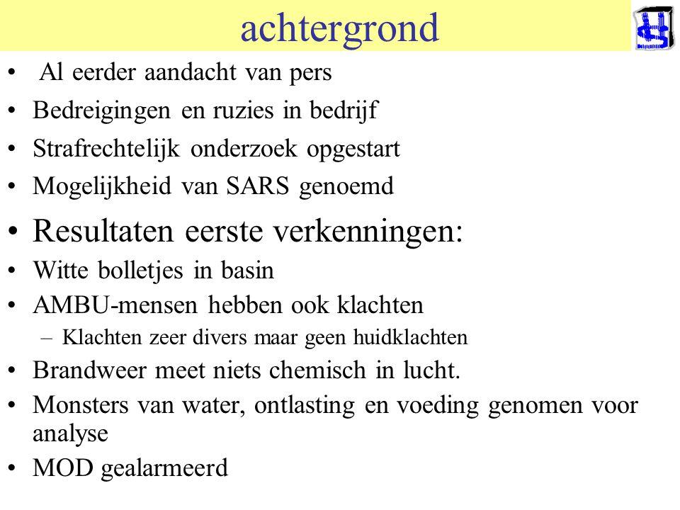 © 2006 JP van de Sande RuG achtergrond Al eerder aandacht van pers Bedreigingen en ruzies in bedrijf Strafrechtelijk onderzoek opgestart Mogelijkheid