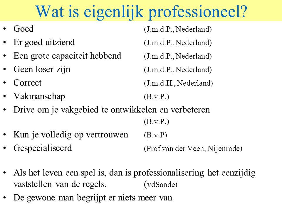 © 2006 JP van de Sande RuG Wat is eigenlijk professioneel.
