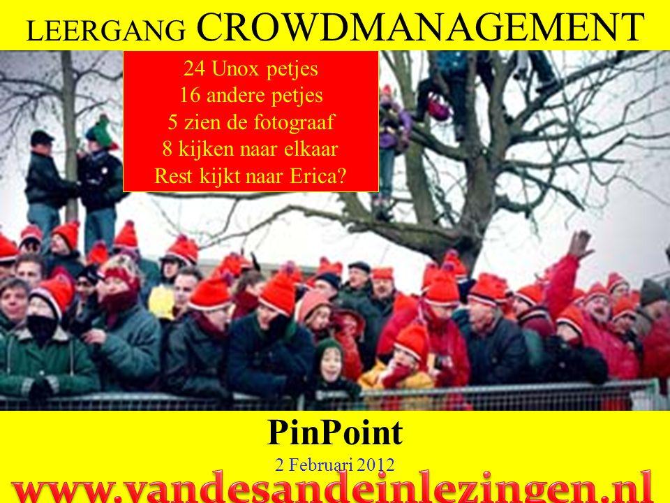 61 CROWD MANAGEMENT Voorspellingsmethoden