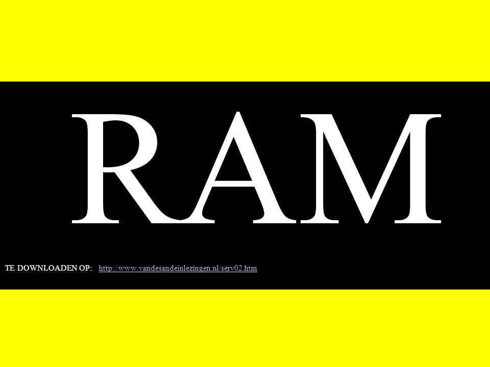 RAM TE DOWNLOADEN OP: http://www.vandesandeinlezingen.nl/serv02.htmhttp://www.vandesandeinlezingen.nl/serv02.htm