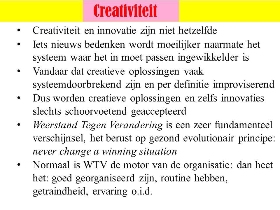 ©vandeSandeinlezingen,2014 Creativiteit en innovatie zijn niet hetzelfde Iets nieuws bedenken wordt moeilijker naarmate het systeem waar het in moet p