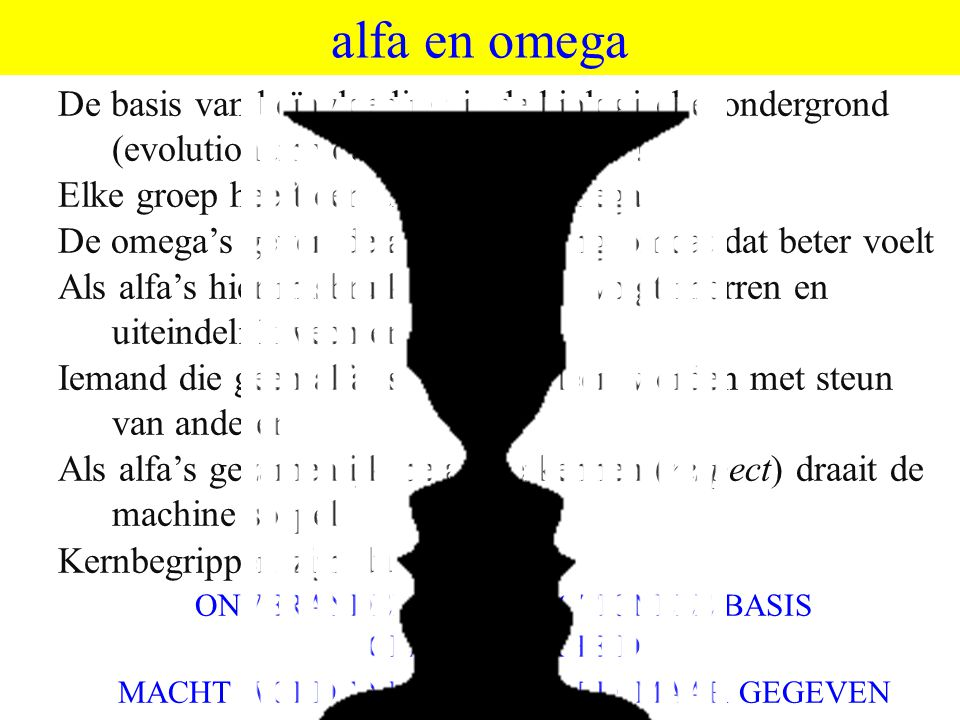 ©vandeSandeinlezingen,2014 alfa en omega De basis van beïnvloeding is de biologische ondergrond (evolutionair voordeel) >>>> emoties! Elke groep heeft