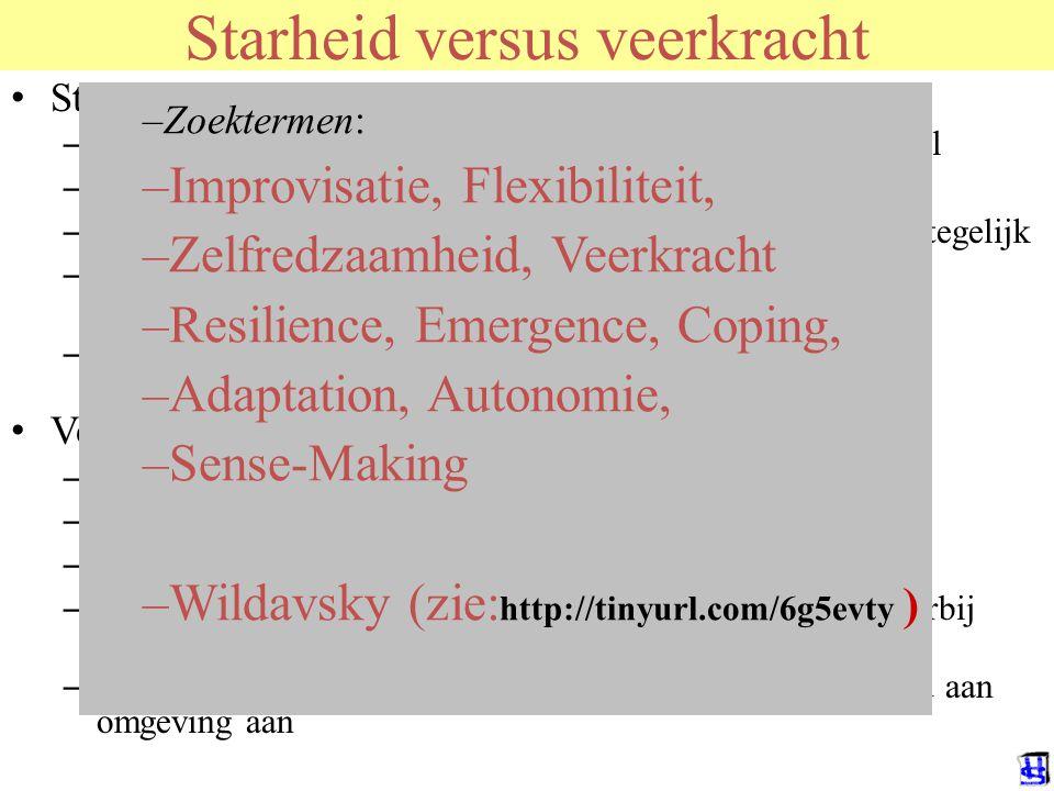 © 2006 JP van de Sande RuG Starheid versus veerkracht Starheid is het ontworpene, het snelle – Het is voor een bepaald doel gemaakt, niet multifunctio
