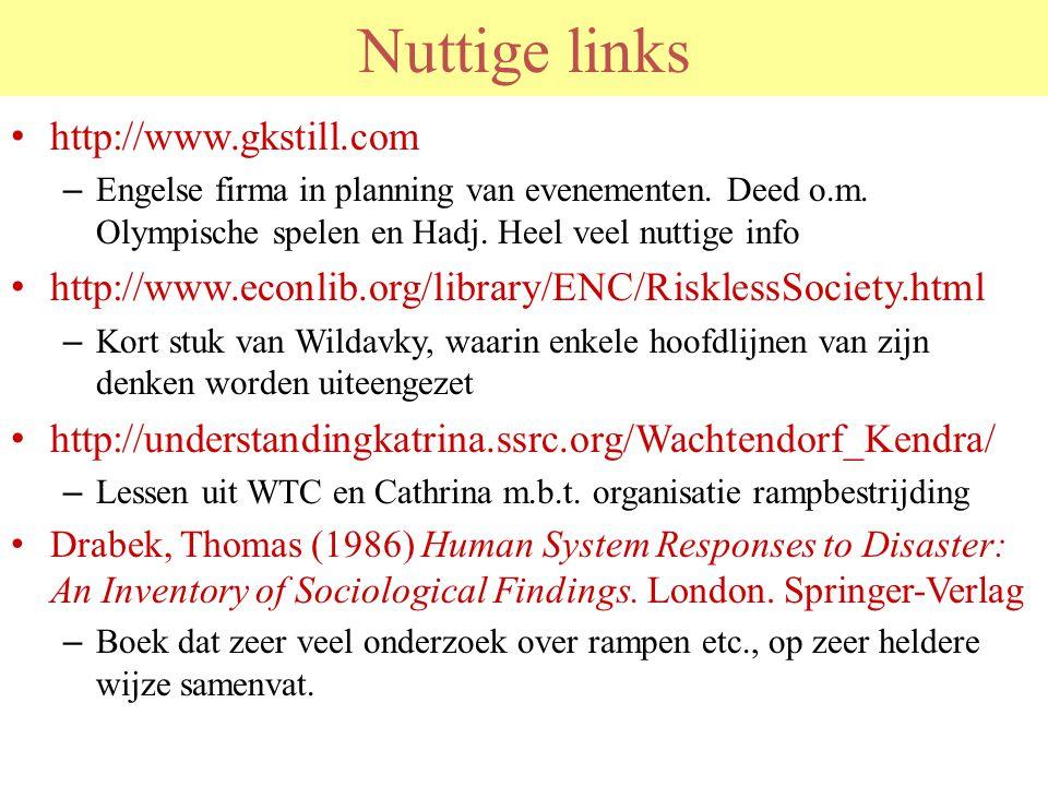 Nuttige links http://www.gkstill.com – Engelse firma in planning van evenementen. Deed o.m. Olympische spelen en Hadj. Heel veel nuttige info http://w