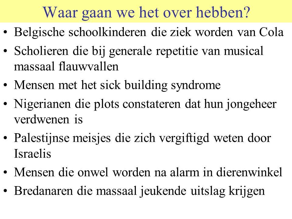 Waar gaan we het over hebben? Belgische schoolkinderen die ziek worden van Cola Scholieren die bij generale repetitie van musical massaal flauwvallen
