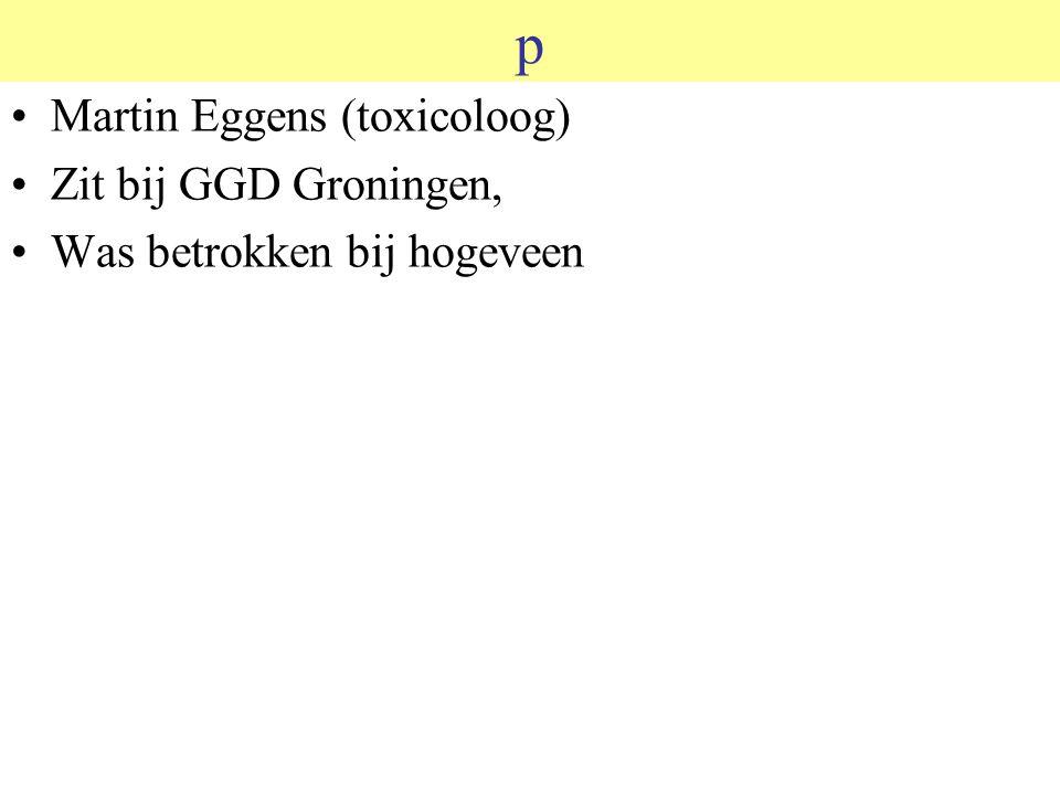 p Martin Eggens (toxicoloog) Zit bij GGD Groningen, Was betrokken bij hogeveen