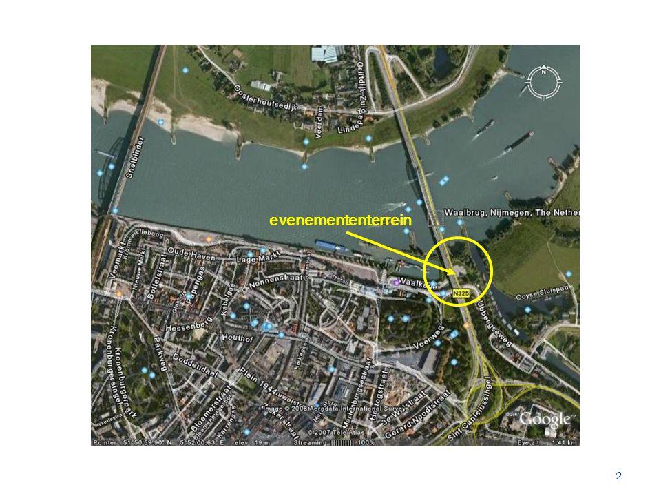 Risicofactoren ruimte Drukke verkeersbrug boven het terrein  Voetgangers en fietsers  Kijkers/raddraaiers.