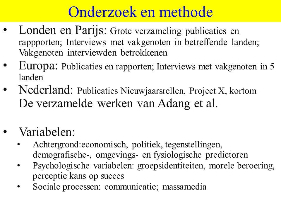 ©vandeSandeinlezingen,2011 Onderzoek en methode Parijs, 2005;London, 2011; Crisisdemo's, 2010/11; Oudjaar Nederland Londen en Parijs: Grote verzamelin