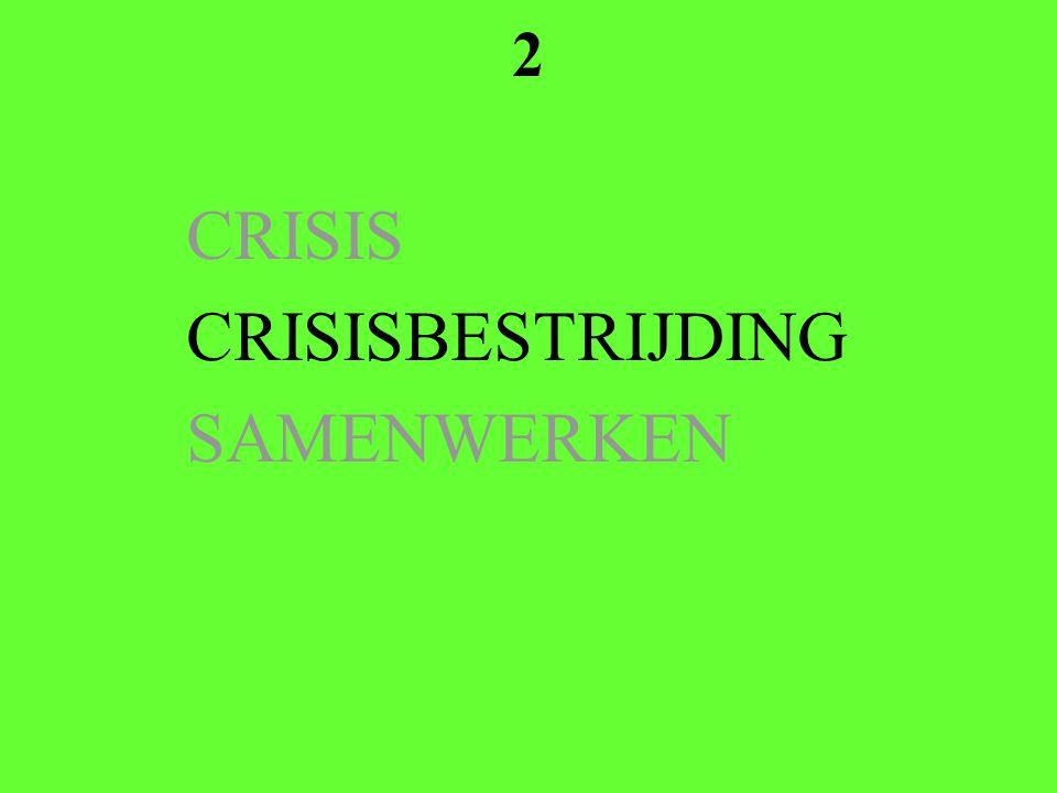 2 CRISIS CRISISBESTRIJDING SAMENWERKEN