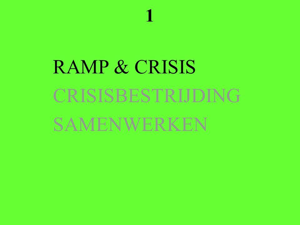 1 RAMP & CRISIS CRISISBESTRIJDING SAMENWERKEN