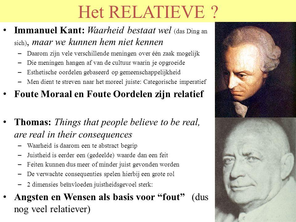 © 2011 JP van de Sande RuG Het RELATIEVE ? Immanuel Kant: Waarheid bestaat wel (das Ding an sich), maar we kunnen hem niet kennen – Daarom zijn vele v