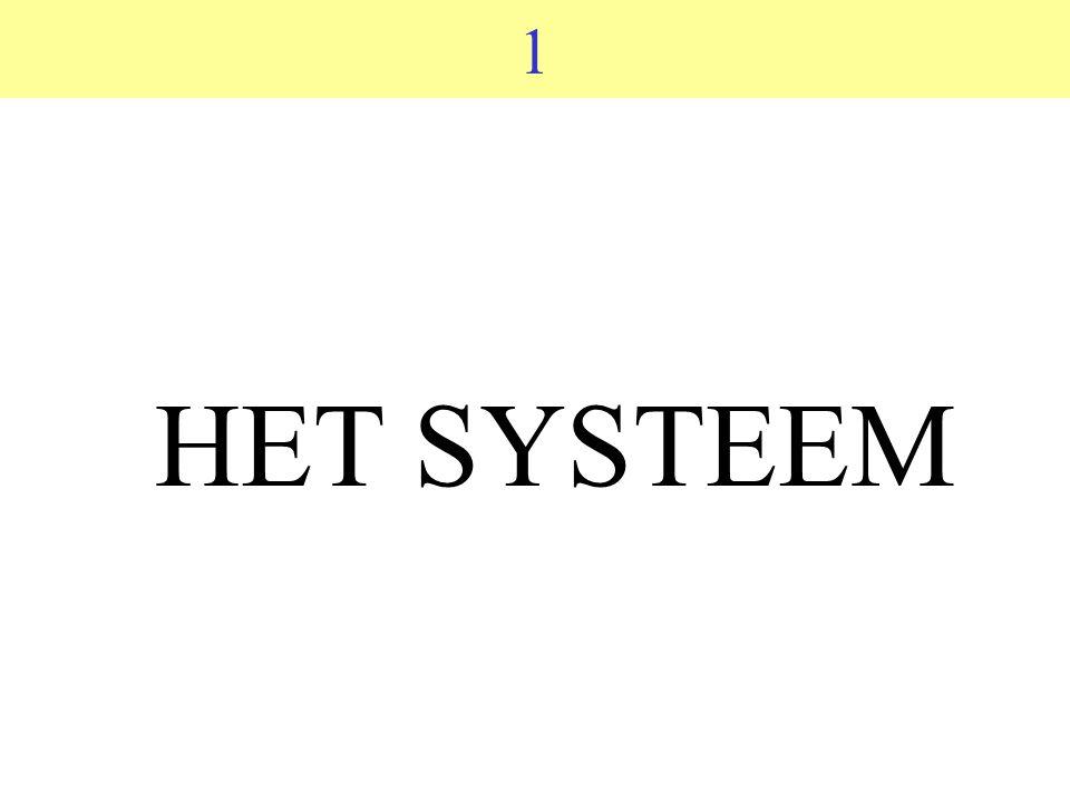 1 HET SYSTEEM
