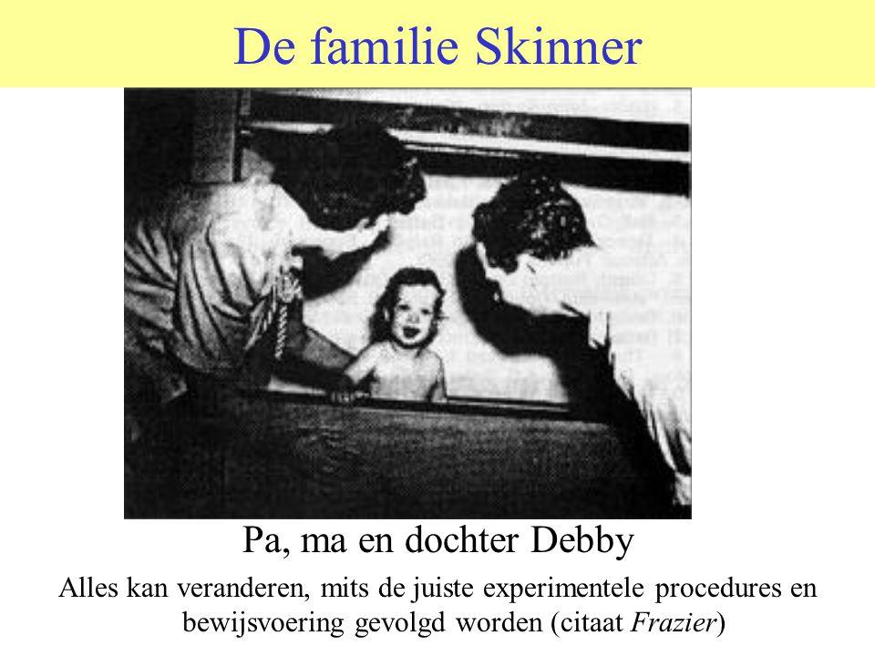 De familie Skinner Pa, ma en dochter Debby Alles kan veranderen, mits de juiste experimentele procedures en bewijsvoering gevolgd worden (citaat Frazier)