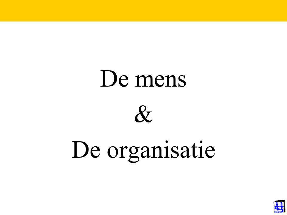 © 2009 JP van de Sande RuG De mens & De organisatie