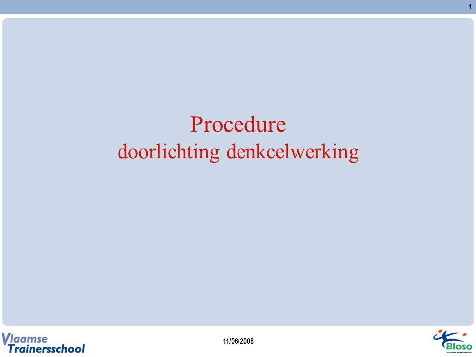 11/06/2008 2 Procedure: Fase 1 Voorbereidende analyse 1.1.