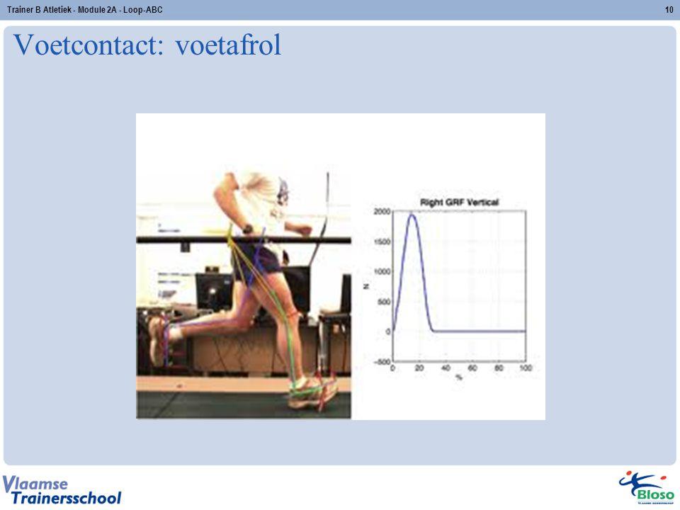 Voetcontact: voetafrol Trainer B Atletiek - Module 2A - Loop-ABC10