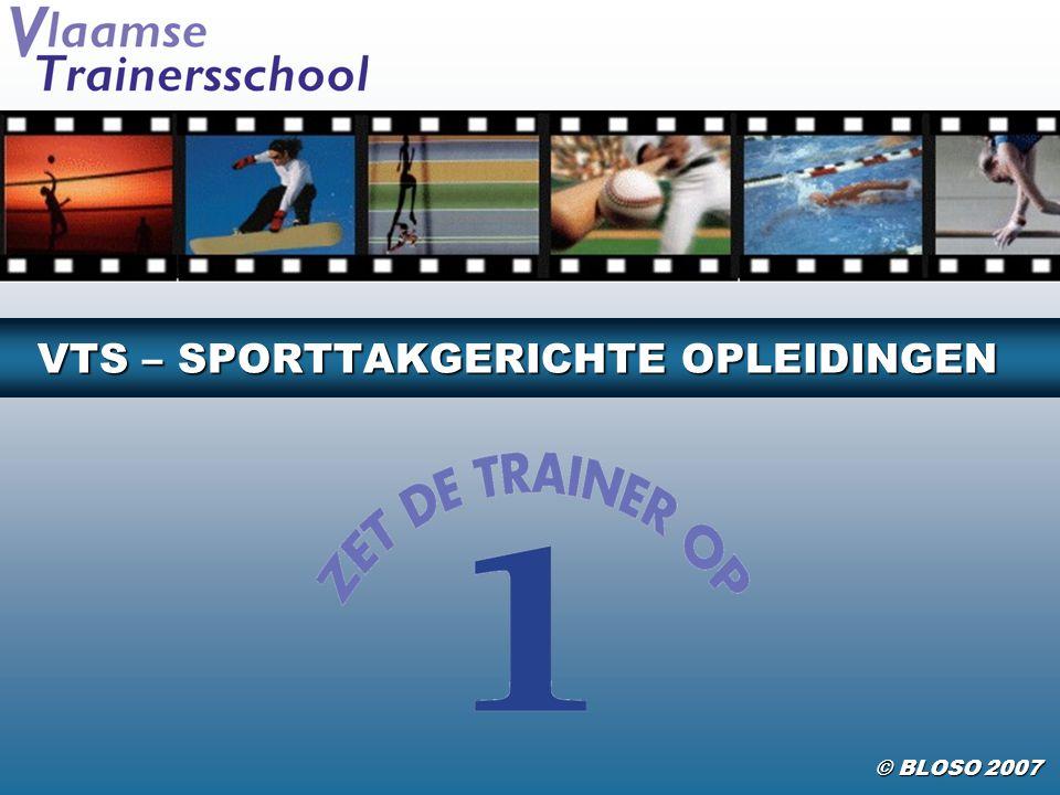 VTS SPORTTAKGERICHTE OPLEIDINGEN 2/38 Waarom een sportkaderopleiding volgen .