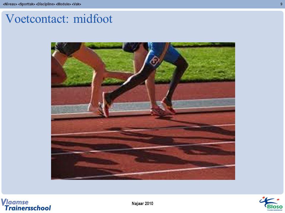 Voetcontact: midfoot Najaar 2010 9