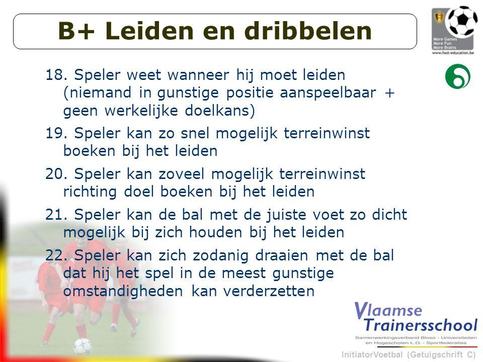 InitiatorVoetbal (Getuigschrift C) B+ Leiden en dribbelen 18.