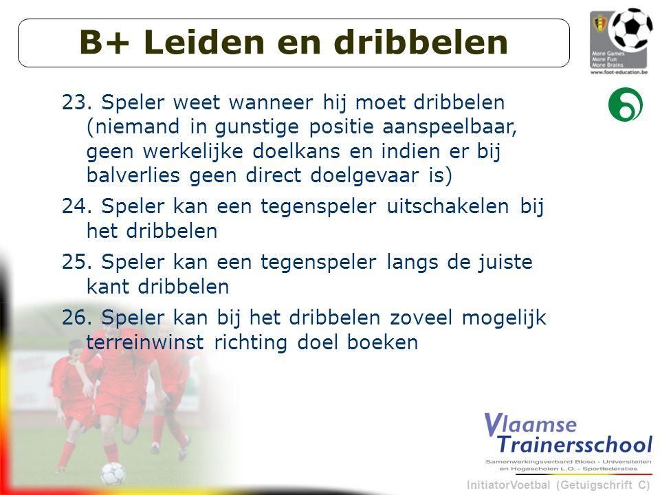 InitiatorVoetbal (Getuigschrift C) B+ Leiden en dribbelen 23.