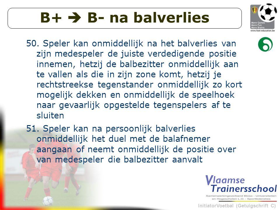 InitiatorVoetbal (Getuigschrift C) B+  B- na balverlies 50.