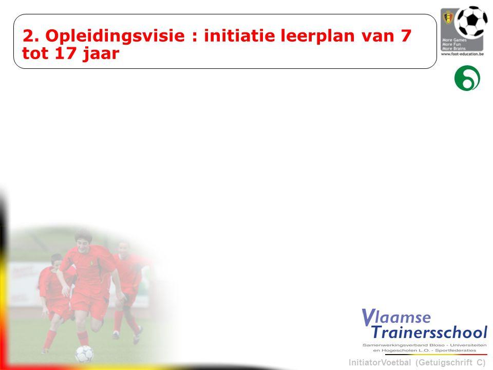InitiatorVoetbal (Getuigschrift C) 2. Opleidingsvisie : initiatie leerplan van 7 tot 17 jaar