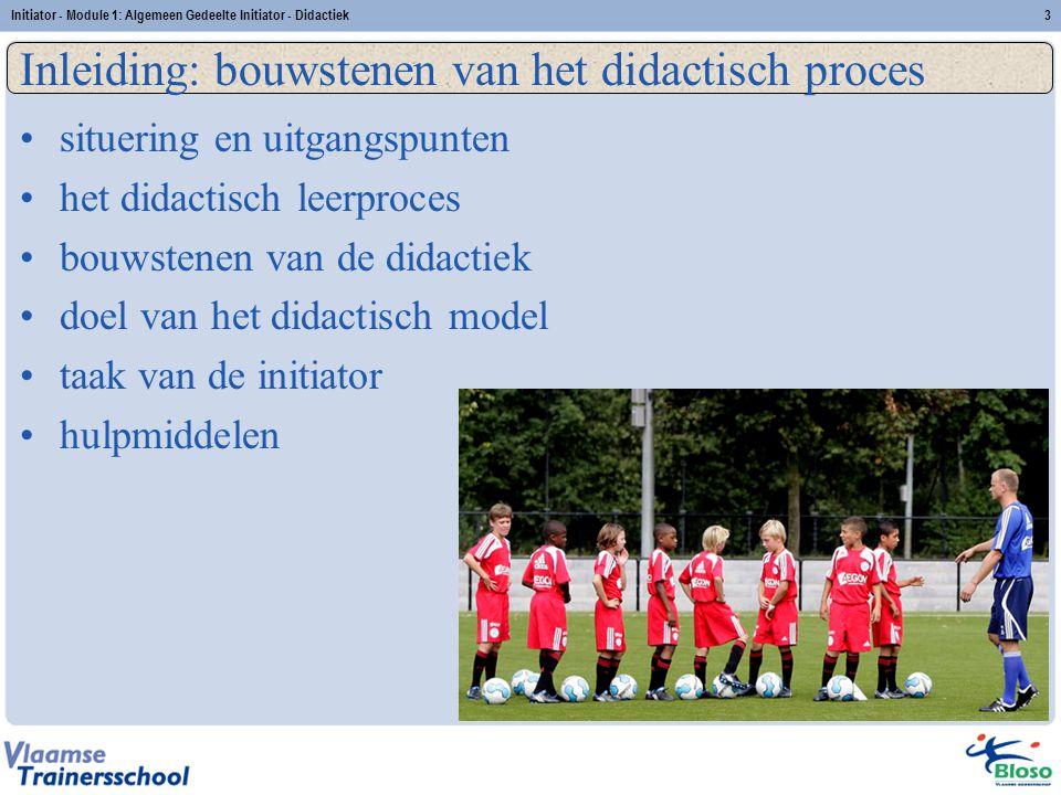 Initiator - Module 1: Algemeen Gedeelte Initiator - Didactiek14 Bouwsteen 4: Procedures en methoden 1.