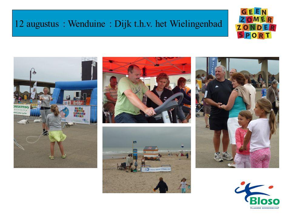 12 augustus : Wenduine : Dijk t.h.v. het Wielingenbad