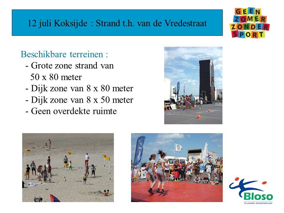 12 juli Koksijde : Strand t.h.