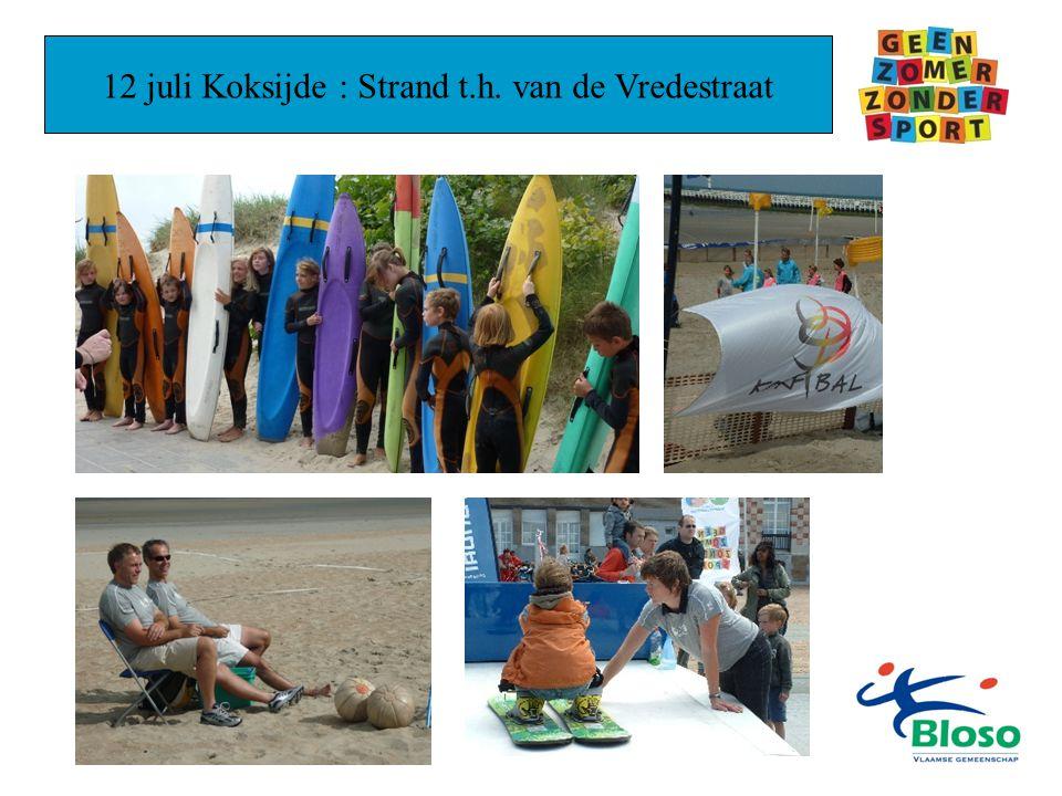 12 juli Koksijde : Strand t.h. van de Vredestraat