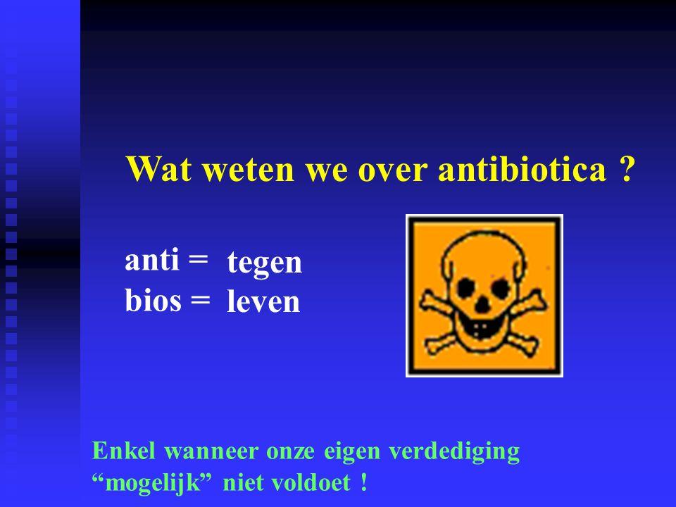 Wat weten we over antibiotica .