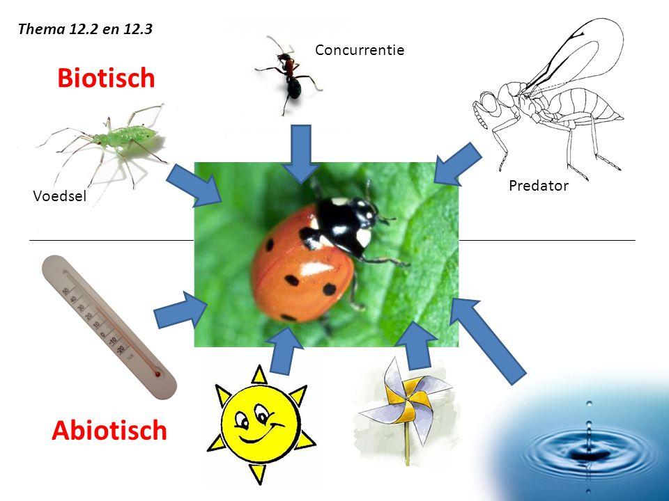 Biotisch Abiotisch Predator Voedsel Concurrentie Thema 12.2 en 12.3