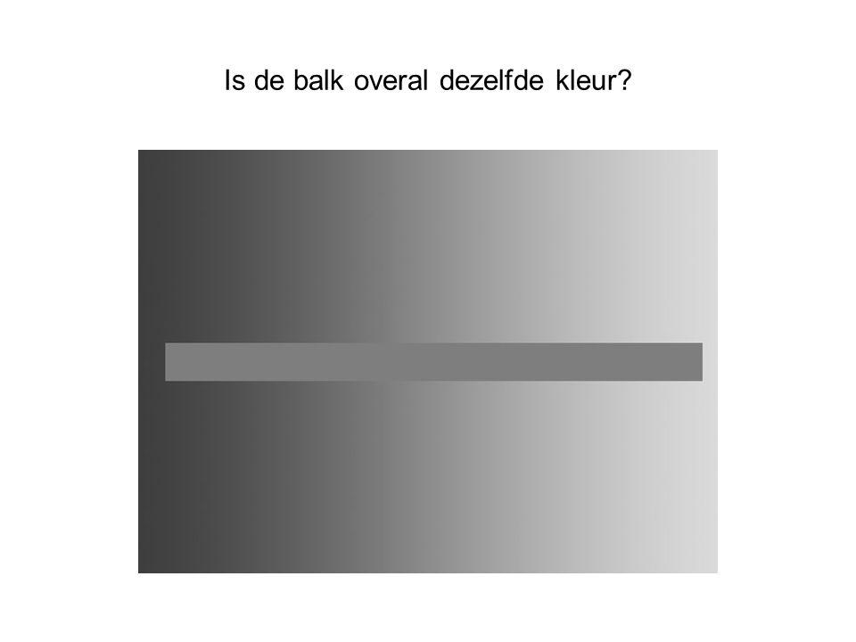 Is de balk overal dezelfde kleur?