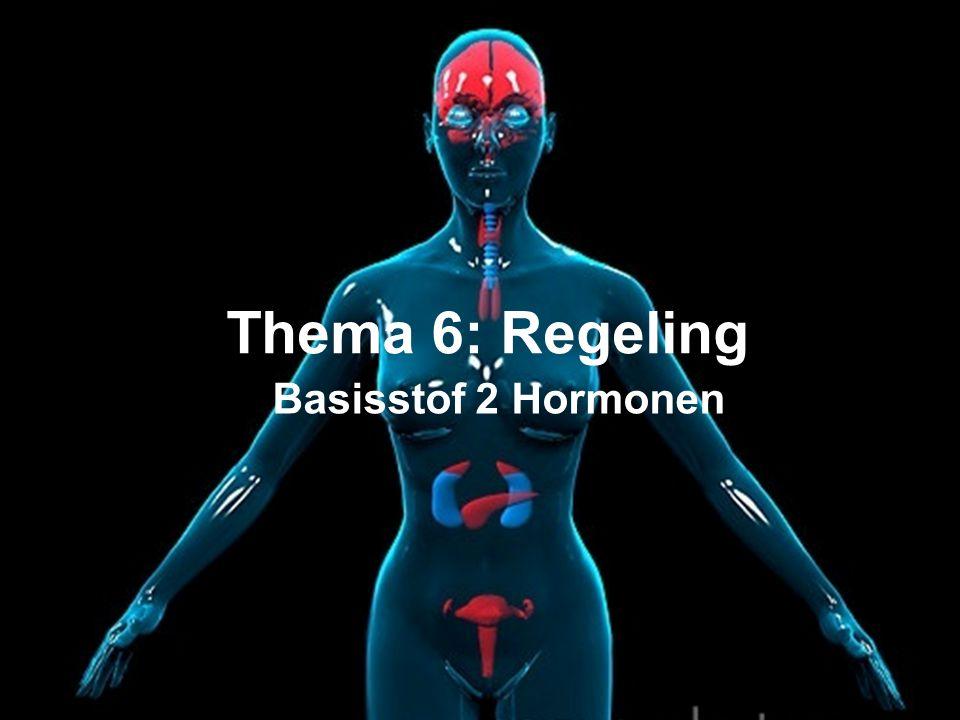 Basisstof 2 Hormonen Thema 6: Regeling