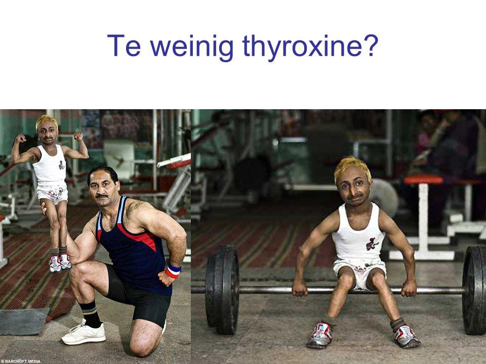 Te weinig thyroxine?