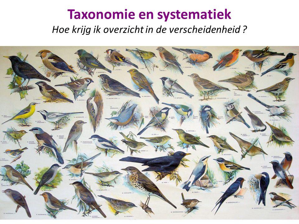Taxonomie en systematiek Hoe krijg ik overzicht in de verscheidenheid ?