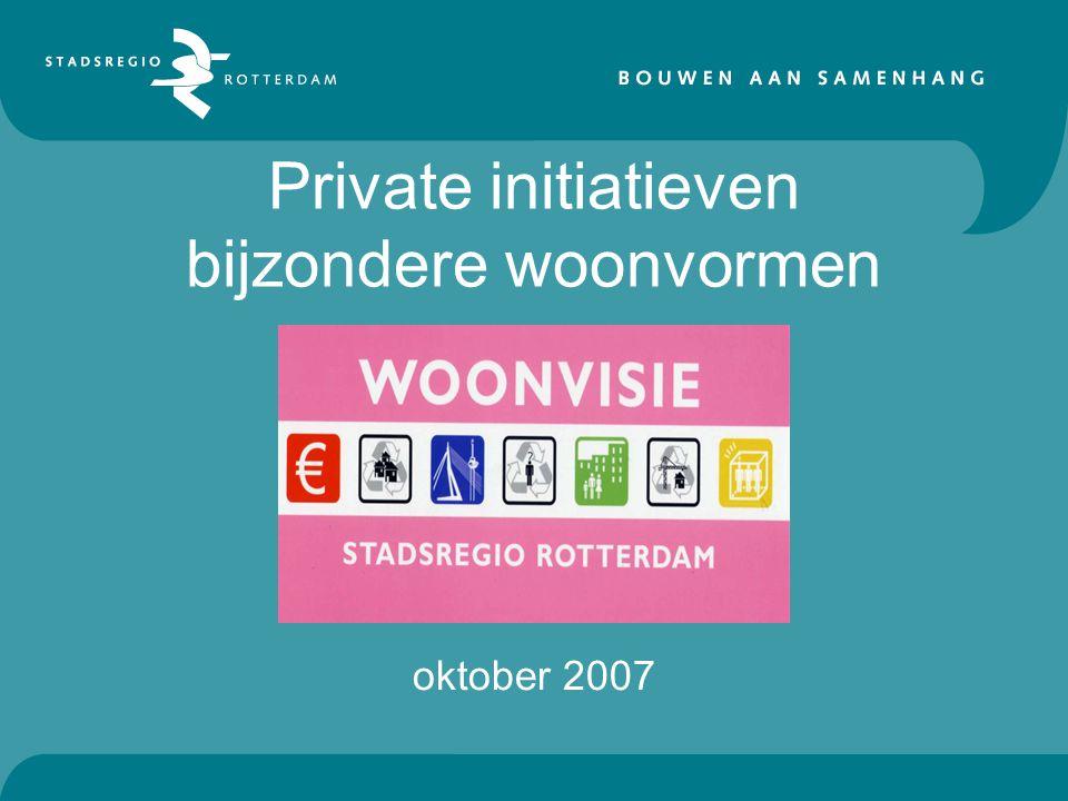 Private initiatieven bijzondere woonvormen oktober 2007