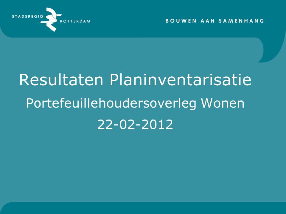 Resultaten Planinventarisatie Portefeuillehoudersoverleg Wonen 22-02-2012