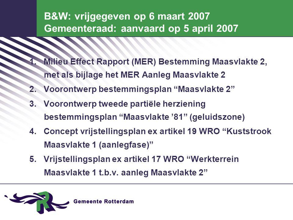 Programma Maasvlakte 2.Max. 1000 ha deepsea gebonden industrieterrein: - max.