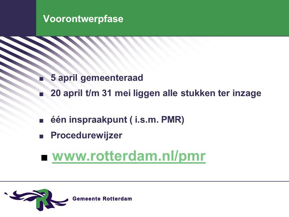 Voorontwerpfase. 5 april gemeenteraad. 20 april t/m 31 mei liggen alle stukken ter inzage. één inspraakpunt ( i.s.m. PMR). Procedurewijzer. www.rotter