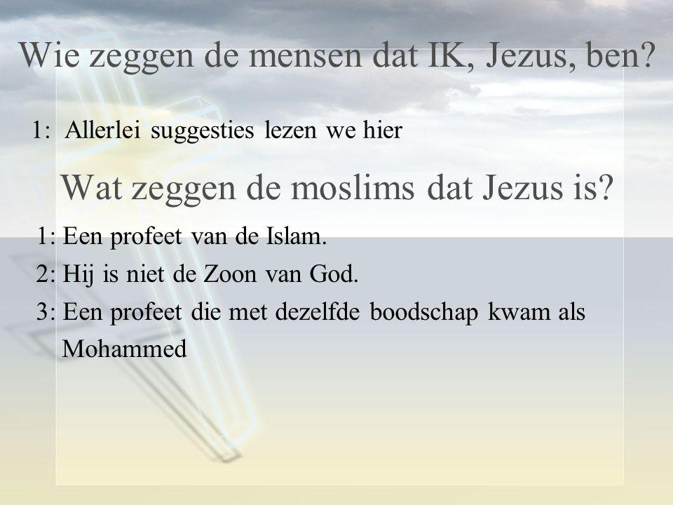 Wie zeggen de mensen dat IK, Jezus, ben.