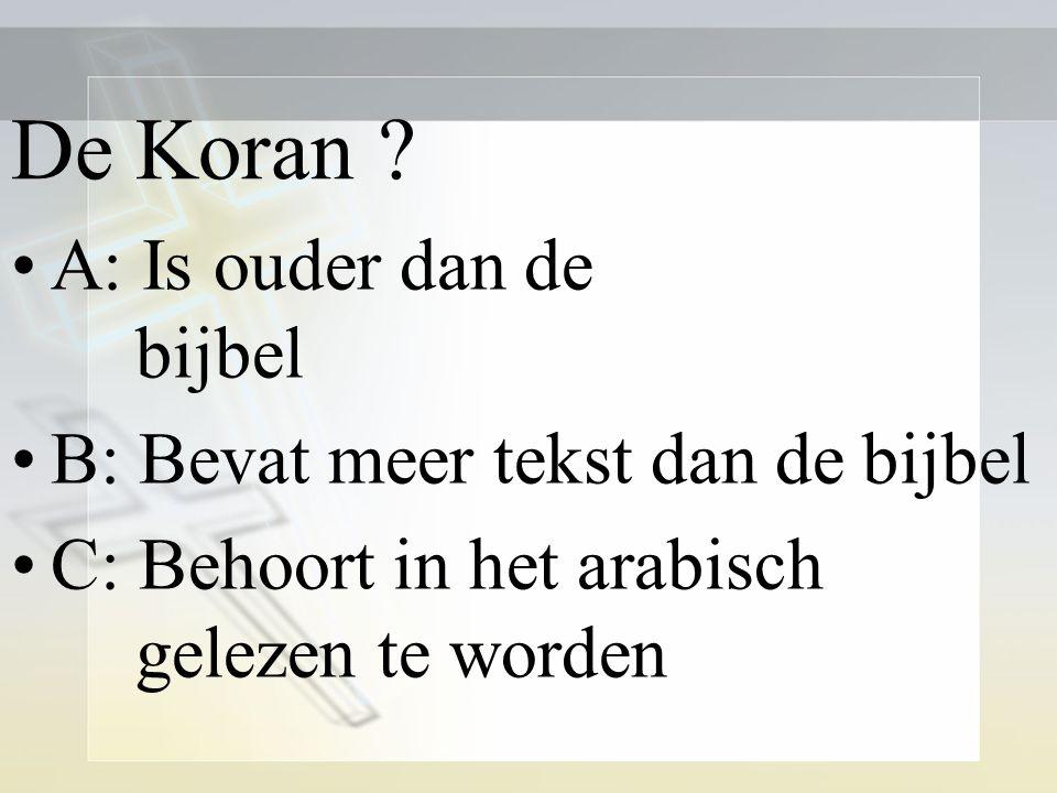De Koran .