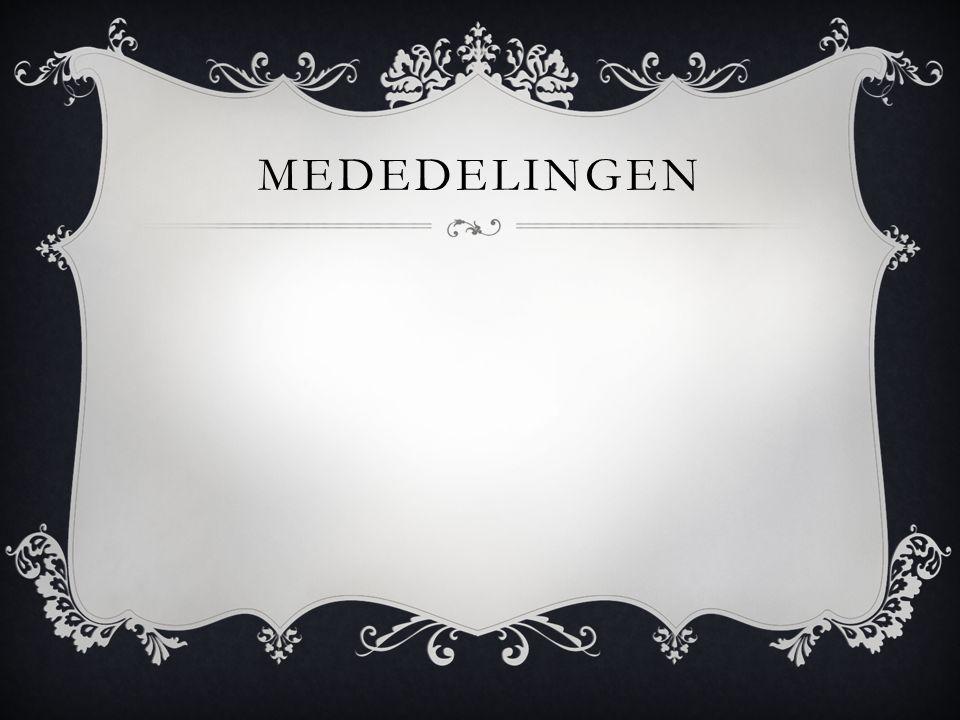 MEDEDELINGEN