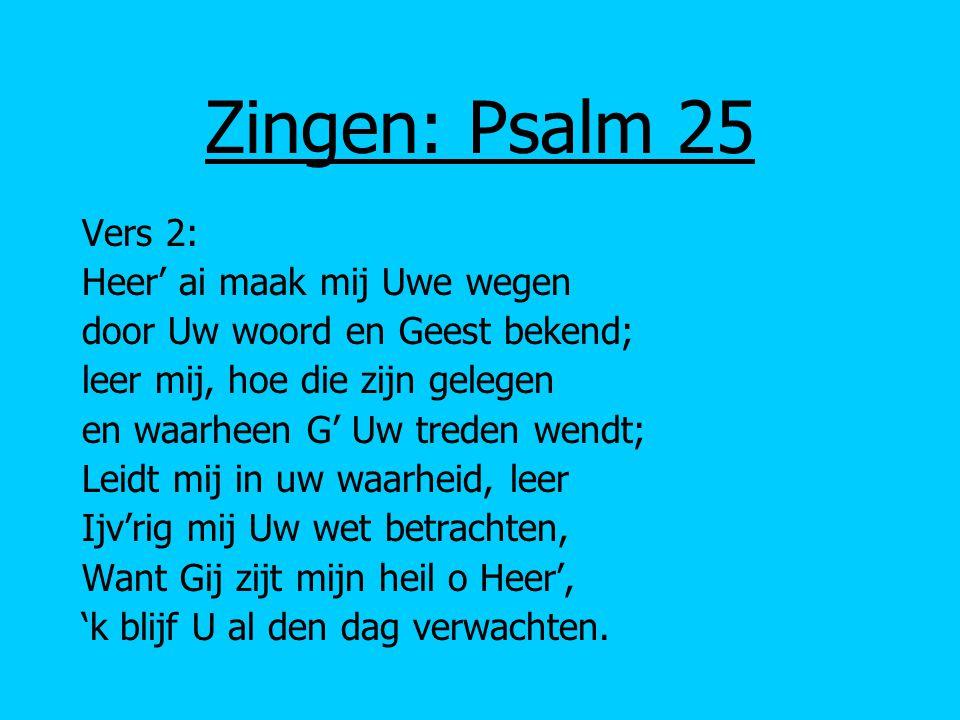 Vers 6: Wie heeft lust den Heer' te vrezen, 't allerhoogst en eeuwig goed.