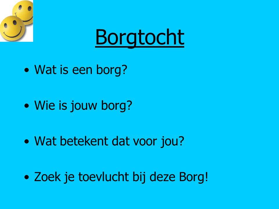 Borgtocht Wat is een borg? Wie is jouw borg? Wat betekent dat voor jou? Zoek je toevlucht bij deze Borg!