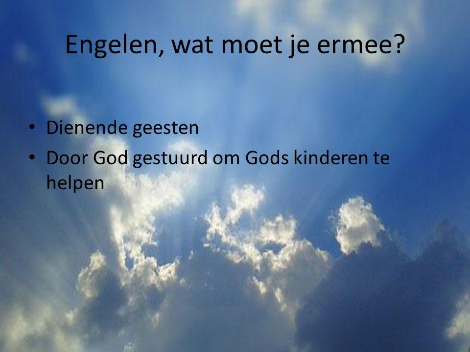 Taken van engel Engelen loven God Ze brengen boodschap van God over Engelen zijn blij als jij je bekeert Ze beschermen en geven hulp in nood Engelen zijn er bij het einde