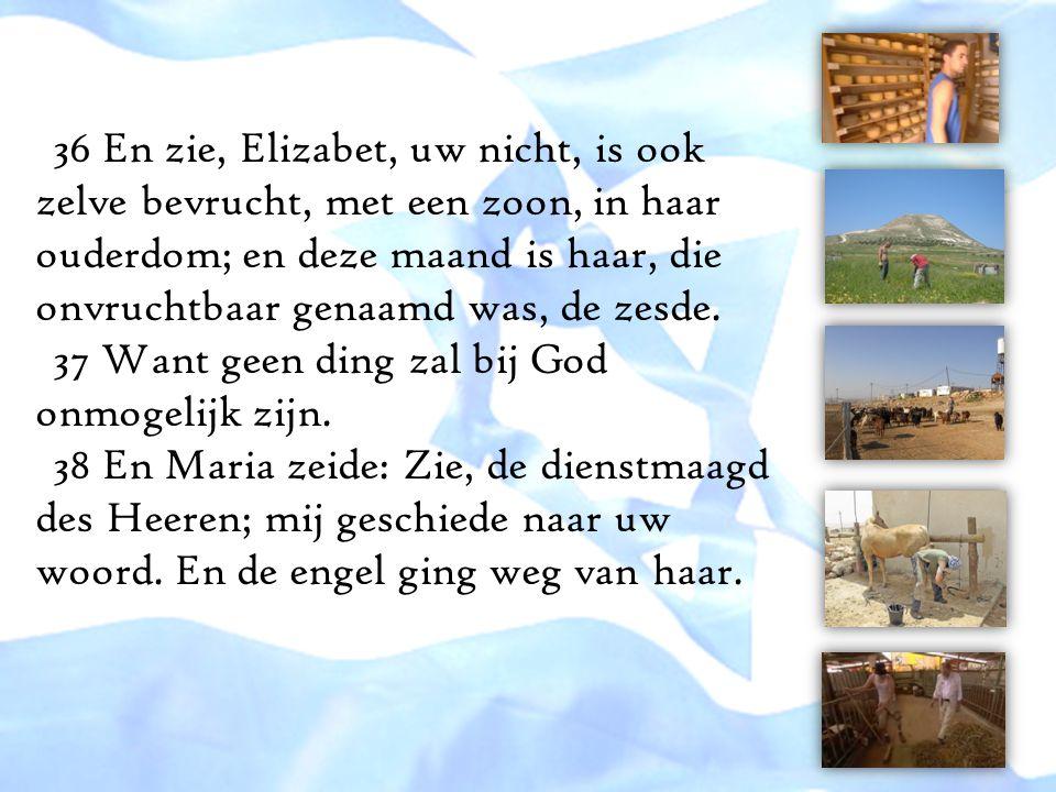 36 En zie, Elizabet, uw nicht, is ook zelve bevrucht, met een zoon, in haar ouderdom; en deze maand is haar, die onvruchtbaar genaamd was, de zesde. 3