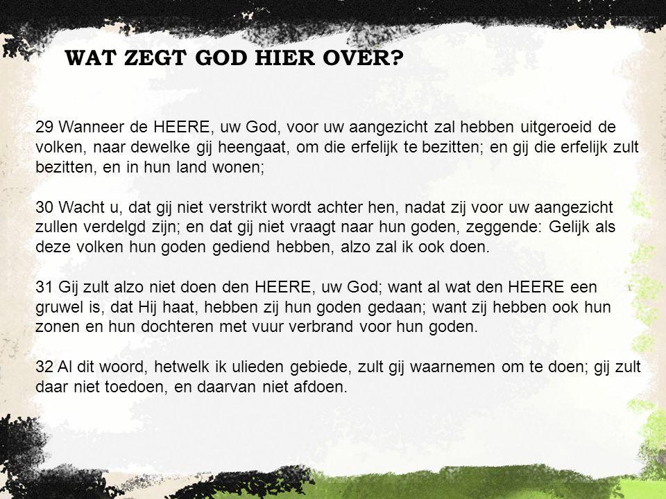 WAT ZEGT GOD HIER OVER.