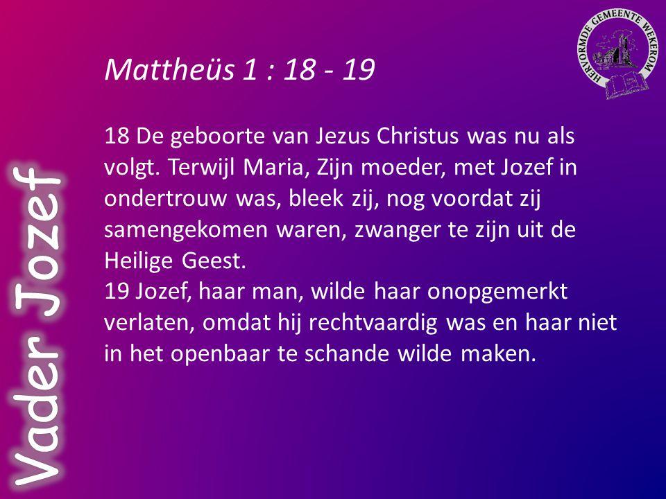 Mattheüs 13 : 55 55 Is Dit niet de Zoon van de timmerman.